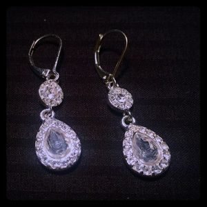 Napier crystal  drop earrings. - gorgeous